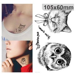 Disposable 3d Waterproof Tattoo Sticker Paiting Brush Drawing Owl Letter  Design Large Temporary Tattoo Stickers 50pcs lot free ship