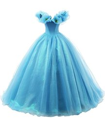 Wholesale Cinderella Gowns - Baby Blue Princess Girls' Floor Length Ball Gowns Cinderella Flowers Butterfly Pageant Dresses Custom Made Organza A Line V Neck Dress