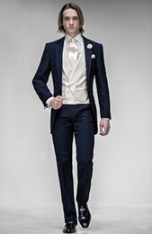 Wholesale Two Piece Taffeta Suit - New Arrival Taffeta Wedding Mens Suits Slim Fit Bridegroom Tuxedos For Men Two-Piece Groomsmen Suit Two Buttons Formal Business Jackets
