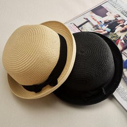 Wholesale wide brimmed hats for women - Wholesale- New Summer Dome Panama Straw Hat Ladies Beach Hats Sun Hat Boater For Women Adult Sombrero Para El Sol Mujer Verano Gorros