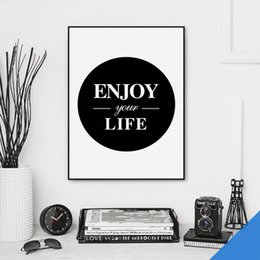 Wholesale Enjoy Life - Free shipping novelty gift encourage enjoy your life words pattern home cafe decorative hanging poster photo picture