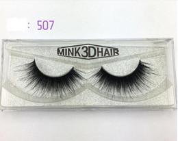 Wholesale Eyes Extension Set - High Quality 1 Pairs set Beauty Thick Makeup False Eyelashes 100% Real Mink Handmade Eye Lashes Extension