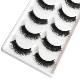 Großhandel-Saleing falsche Wimpern 1 Box 5 Paar dicke schwarze falsche Wimpern Make-up-Tipps natürlichen rauchigen Make-up lange gefälschte Wimpern von Fabrikanten