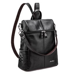 Wholesale Multi functional women s double shoulder bag of the new Korean college feng backpack computer bag