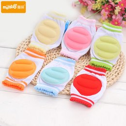 Wholesale Kids Cotton Cushion - 1 Pair Baby Knee Pads Protector Kids Children Safety Crawling Elbow Cushion Infants Knee Pads Protector Leg Warmers Baby Kneecap