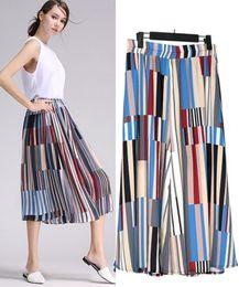 Wholesale Large Chiffon Pants - A large number of spot wholesale large size dress slacks striped Chiffon Long Johns nine pants, casual pants