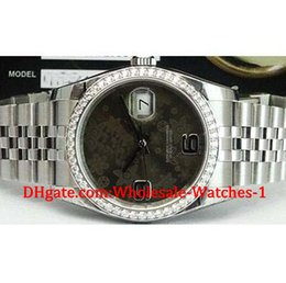 Wholesale Luxury Chocolate Gifts - New arrive Luxury watches free gift box Wrist watch Men's 18kt White Gold & SS Chocolate Floral 116244