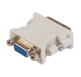 Wholesale Interface Graphics - The factory spot DVI conversion VGA Conversion head Video line The graphics card interface for DHL