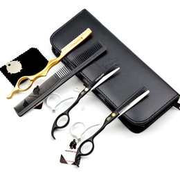 "Wholesale Hairdressers Kit - 5.5"" Barber Cutting Scissors Set for professional hairdresser cutting scissor & thinning shears kit HT9117 haircut"