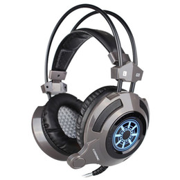 Wholesale Computer Usb Headset - Gaming Headset with Microphone Noise Canceling Cosonic computer USB 3.5mm aux connetcor LED Light headphone for PC Gamer