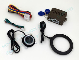 Wholesale Rfid Entry Systems - new case RFID alarm FS-55,push button start,transponder immobilizer system,keyless entry car engine,russia english manual