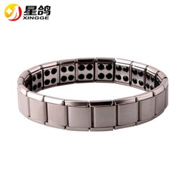 Wholesale Indian Men Bracelets - Hot Sale Energy Magnetic Health Bracelet for Women Men health Style Plated Silver Stainless Steel Bracelets Gifts Fashion Jewelry Wholesale