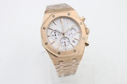 Wholesale Toning Band - AAA Luxury original clasp watch men three tones limited Watch quartz chronograph brand Royal Oak Stainless Steel band mens watches