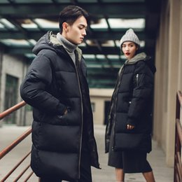 Wholesale Thick Asian Women - Wholesale- 2016 new men and women winter coats Long down jacket with hooded winter coat(Asian size M-4XL)