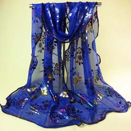 Wholesale Veil Wrap - Wholesale-CharmDemon Women Vintage Colorful Flower Lace Gauze Veil Wrap Scarf Shawl Wrap jy28