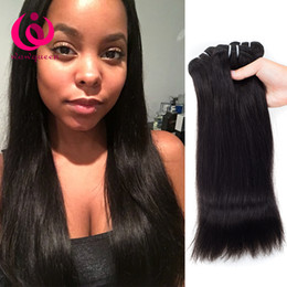 Wholesale Grade Indian Straight - Brazilian Virgin Hair Straight Human Hair Bundles Weave Grade 8A Unprocessed Peruvian Malaysian Indian Human Hair Extensions