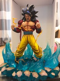 Wholesale Painted Statue - High Quality Resin Painted GK Dragon Ball Z Movie Character Statue Resin Super saiyan Sculpture Model Figure for Collection