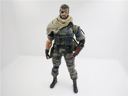 Wholesale action figure play arts - POPOToyFirm Play Arts Kai Movie Cartoon Metal Gears SNAKE PVC 27cm Action Figures Toys With Boxes