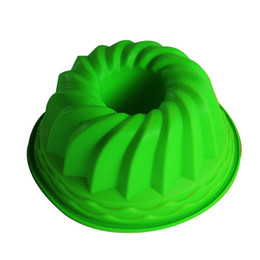 Wholesale Ring Tray Set - Wholesale- 24cm*11cm Bundt Swirl Ring Silicone Cake Bread Pastry Mold Tray Pan Bakeware Mould Silicone Mold Christmas Cake Decorating Tools