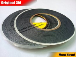 Wholesale Screen Roll 3m - Wholesale- 2016 2 rolls (1.5mm 2mm)*50M Strong Adhesive 3M Black Double Sided Glue Sticker for Samsung Galaxy Nokia Touch Screen LCD Dispa
