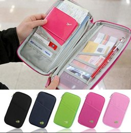 Wholesale travel wallets passport holders - Passport Holder Ticket Wallet Handbag ID Credit Card Storage Bag Organiser Zipper Travel passport Wallet Document Bag KKA2040