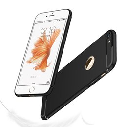 Wholesale Iphone Covers Free Shipping - Free shipping Luxury Leather Soft TPU Matte Cover Phone Case For iPhone 5 6S 7 7 Plus