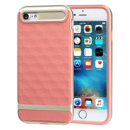 Wholesale Diamond Case Lg - NEW 3D diamond Texture Case For iphone 5s 6 6 plus Neo Hybrid Case for iphone 7 7 plus TPU + PC Back Cover Case