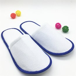 Wholesale Wholesale Fabric Sewing Material - Thickening hotel tourist spa disposable slippers guest slippers disposable supplies cotton material safety hygiene