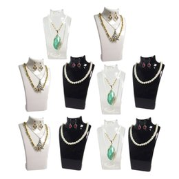 Wholesale Earring Necklace Holder Display Stand - 10Pcs Fashion Jewelry Display Bust Acrylic Jewelry Necklace Storage Box Earring Pendant Organizer Display Set Stand Holder Mannequin Rack