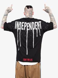 Wholesale Freedom T Shirts - 2017 S S new collection autumn season handwritting FREEDOM streetwear black oversize short sleeve crew neck t-shirt hihpop style