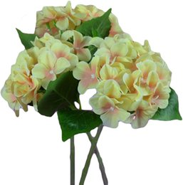 "Wholesale Best Artificial - Wholesale EMS Free Best Deals Artificial Hydrangea Flower Single Big Heads 2 leaves (Diameter 6"") 6 Colors Avaliable for Home Hotel Decor"