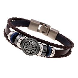 2019 bracelets en gros en europe 2017 Bijoux De Mode Charme Bracelets Street Style Tressé En Cuir Rétro Bracelet Pour Hommes Europe / États-Unis En Gros promotion bracelets en gros en europe