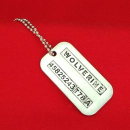 Wholesale X Men Necklace - X-Men Wolverine necklace vintage lettering logan dog tag pendants necklaces statement jewelry for men movie jewelry Christmas gift 160367