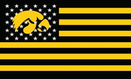 Wholesale Fans Indoor - Iowa Hawkeyes Flag 100D Polyester metal Grommets Large Fans Supporters Outdoor Indoor Banner 5x3ft 51098 (2)
