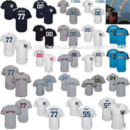 Wholesale Green New York Jersey - S-5XL ALL Star New York Yankees Sonny Gray Clint Frazier Aaron Judge Gary Sanchez Starlin Castro Luis Severino Dellin Betances Custom Jersey