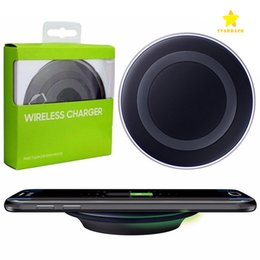 Wholesale Qi Charging - Universal Wireless Charger Fast Charging For Samsung Galaxy S6 Charging Pad QI Standard With Retail Box