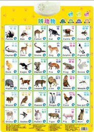 Wholesale Educational Electronic Toys For Children - Animals distinguish Learning Baby sound wall chart read card book Early educational Enlightenment Electronic toy for kid