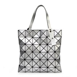Wholesale Sequin Fold - 2016 New Women Fashion BAOBAO Bag Geometry Package Sequins Mirror Saser Plain Folding Handbags Fashion Women Shoulder Bags 6*6