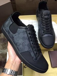 Wholesale Casual Brands Men Free Shipping - luxury 2017 quality hot sale new arrival luxury brand casual shoes men casual genuine leather free shipping size 39 45