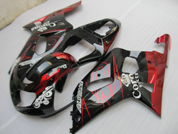 Wholesale Corona Fairings Red - New Custom ABS Fairing kit for SUZUKI GSXR600 750 K1 01 02 03 GSXR 600 GSXR 750 2001 2002 2003 nice Fairings set red black white corona
