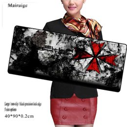 Wholesale Umbrellas Custom - Umbrella creative LOGO large size mouse pad custom black precision lock side anti-slip office notebook computer keyboard game pad