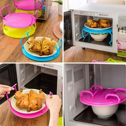 Wholesale Steaming Rack - Microwave Steam Rack Plastic Layered Dish Tray Anti Scald Multipurpose Insulated Steaming Racks Bowls Shelving Layered tray WX-C04
