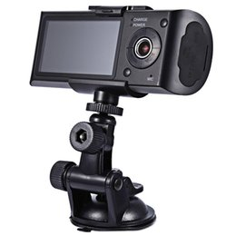 Wholesale Cam Rear Led - car DVR HD Car Camera Dvr Recorder Dual Lens Camcorder Dash Cam With Rear 2 Vehicle View Dashboard Ir Led Night Vision free shipping