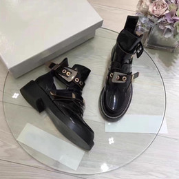 Wholesale Metal Heeled Boots - women ankle buckle strap boot of metal summer fashion genuine casual wedgie with wooden sole round toe luxury brand popular sandals shoes