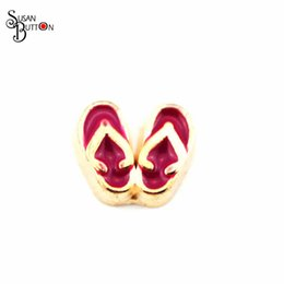 Wholesale 14k Gold Heart Locket - Wholesale 20pcs lots Diy Floating Charms Sandal floating charms For memory Floating glass locket Pendant Pjewelry SJFC823