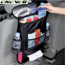 Wholesale Car Back Seat Pocket - High Quality Universal Auto Back Car Seat Organizer Holder Multi-Pocket Travel Storage Keep Warm Multi-Pocket Hanging Bag