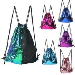 Wholesale Girls Sequin Tote Bag - Sequins Backpacks Bags Drawstring Bags Mermaid Sequins Shoulder Bag Glitter Purse Crossbody HandBags Tote Makeup Bags B1785