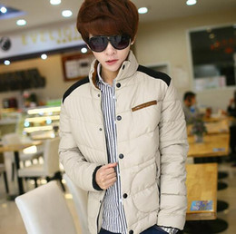 Wholesale Cheap Down Jackets Men - Wholesale- Cheap wholesale 2016 new Winter coats han edition cultivate one's morality men's teenagers winter jacket coat