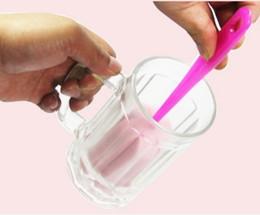 Tazze semplici online-Nuovo design Utensile per la pulizia della cucina Pulizia semplice e durevole spazzola in spugna tazza comoda spazzola multiuso in vetro per la pulizia della spazzola