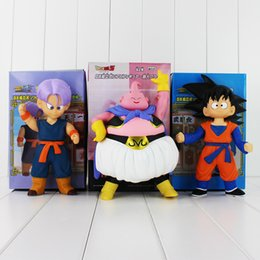 Wholesale Buu Figure - 20-22cm Anime Dragon Ball Trunks Son Goku Buu PVC Action Figure Model for kids gift Free Shipping retail